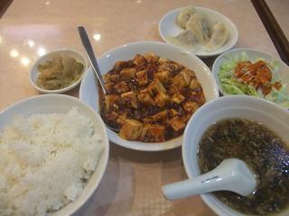 麻婆豆腐+水餃子セット