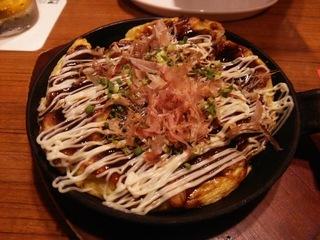 関西風 鉄板焼き豚玉