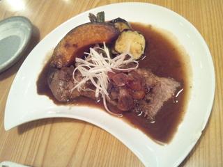 鮪ほほ肉のステーキ