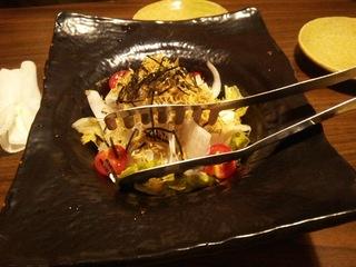 揚げジャコと青首大根の和風サラダ