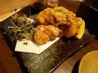 日本酒で漬け込んだ鶏肉の唐揚げ