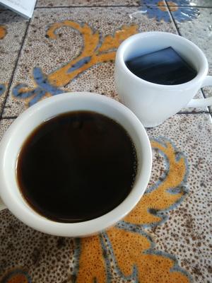 コーヒーとコーヒーゼリー