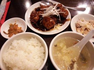 鶏肉の黒酢セット