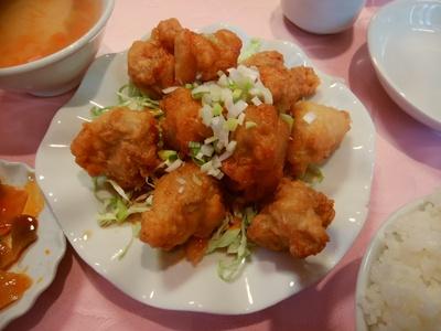 若鶏の唐揚げ特製ソースランチ