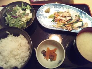 せせりの葱塩炒め定食