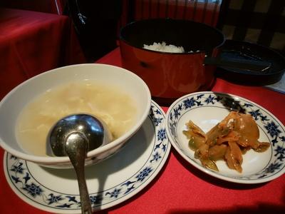 スープとご飯