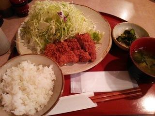 ひれかつ定食(1100円)