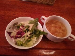 サラダ+スープ