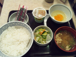納豆たまご定食