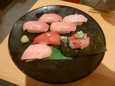 和歌山串本の生本鮪7貫盛り