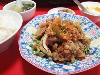 揚げ鶏肉の特製ソースがけ(750円)