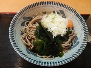 朝そば[冷やし](320円)