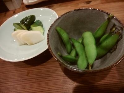 平塚産の枝豆とぬか漬け