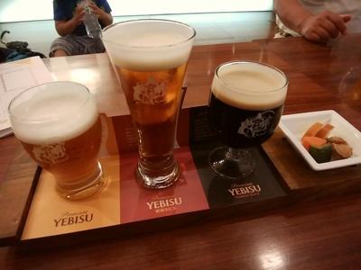 ヱビスビール三種飲み比べ