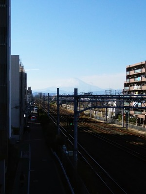 昼の富士山