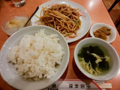 豚肉と搾菜の炒め物