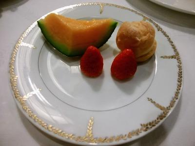 デザートとフルーツ