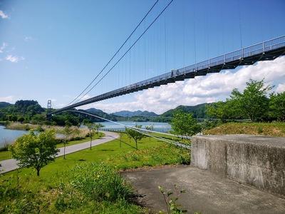 水の郷大つり橋1