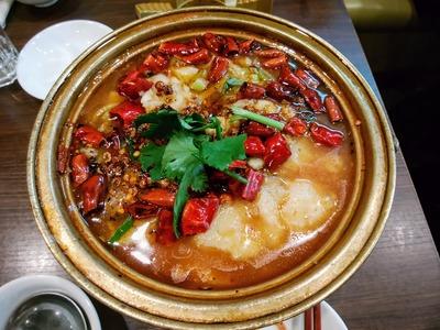 白身魚と野菜の辛口鍋