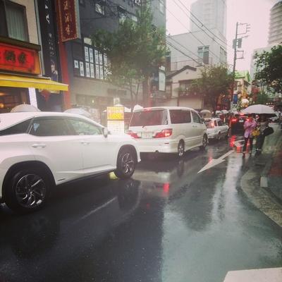 中華街渋滞中
